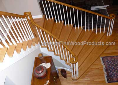oak hardwood steps, Virginia US