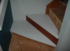 Custom Santos Mahogany Hardwood Stair Treads Calgary Alberta