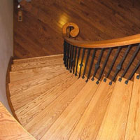 Red Oak Stair Treads Mississauga Ontario Custom Home