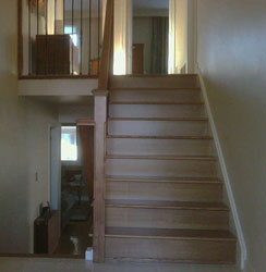 recover carpeted steps with oak treads
