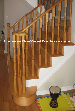 Custom Round Red Oak Treads Scarborough Ontario