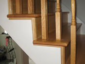 mouldings to finish off stair treads