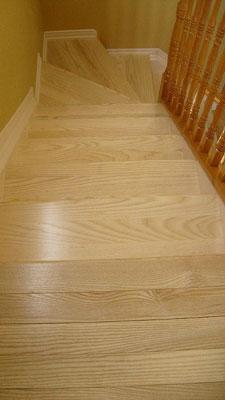 White Ash Stair Treads Ottawa Ontario Custom Home