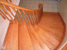 Oak Wood Spiral Stairs   Toronto