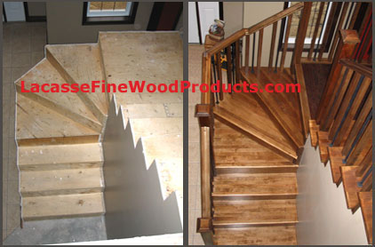 Custom Hardwood Stairs Sized Amp Shaped And In The Wood You