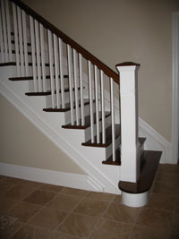 box newel interior railing